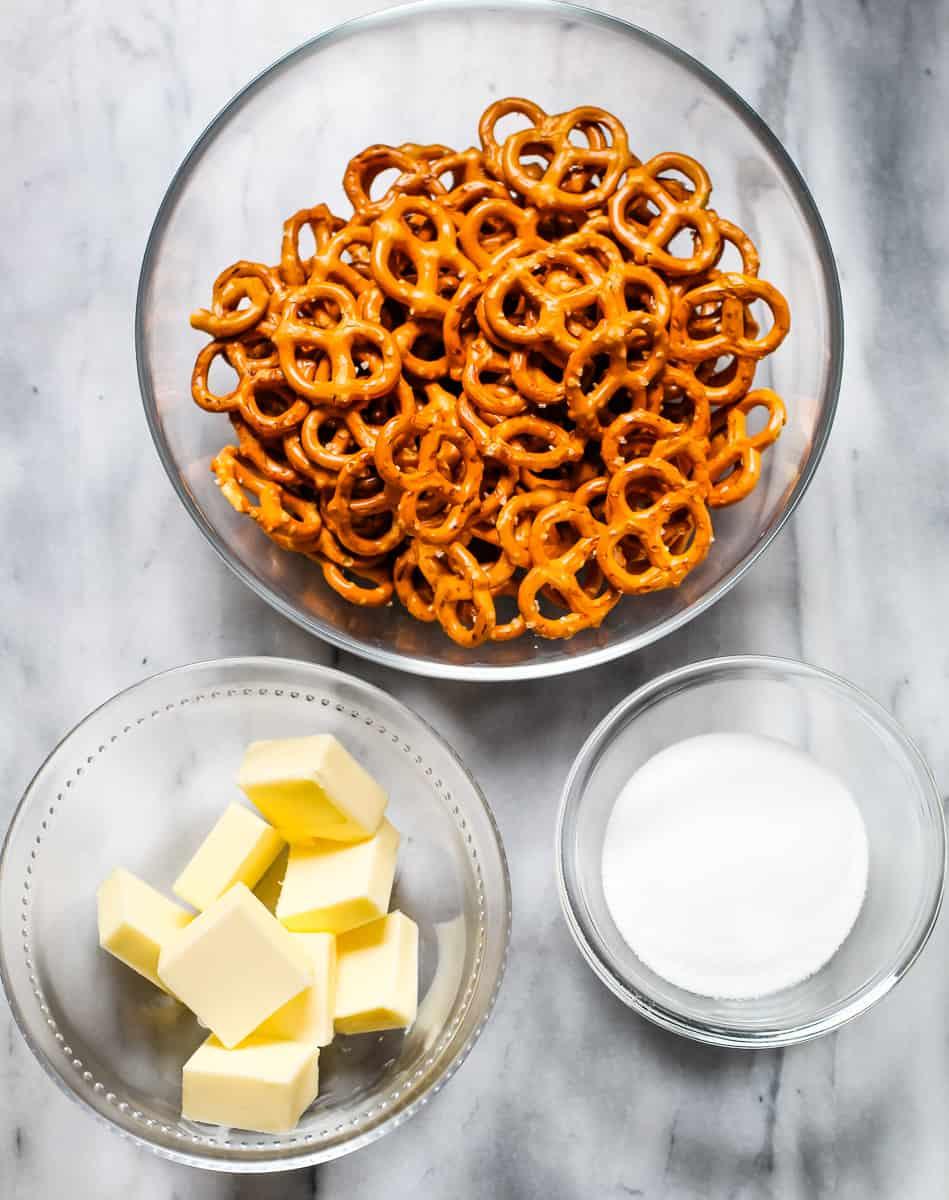 ingredients for pretzel pie crust