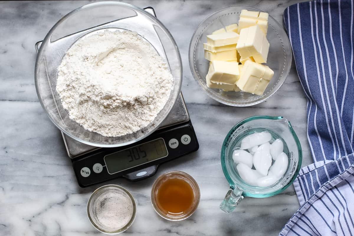 gluten free pie dough ingredients
