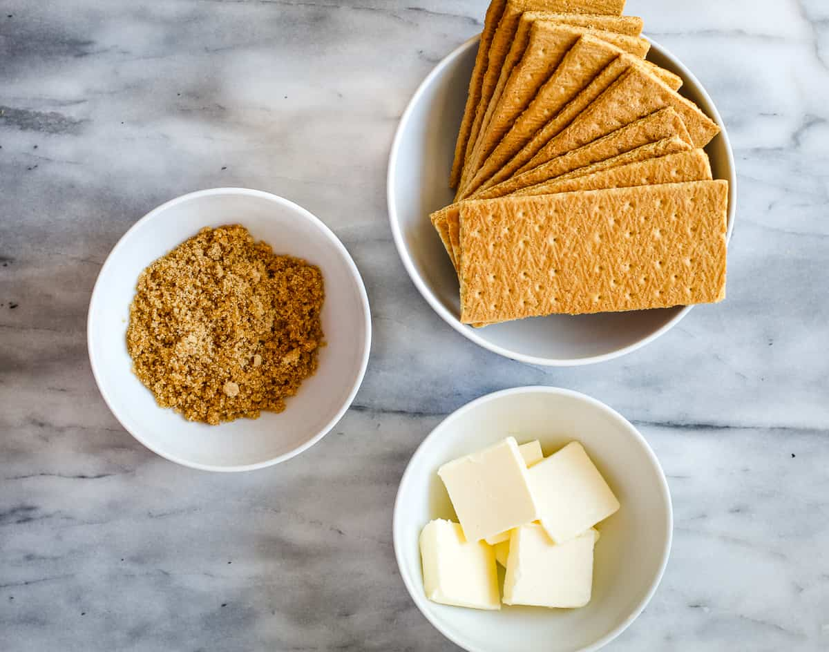 ingredients for graham cracker crust