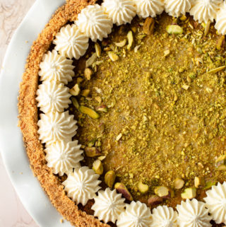Pistachio Pie with Mascarpone.