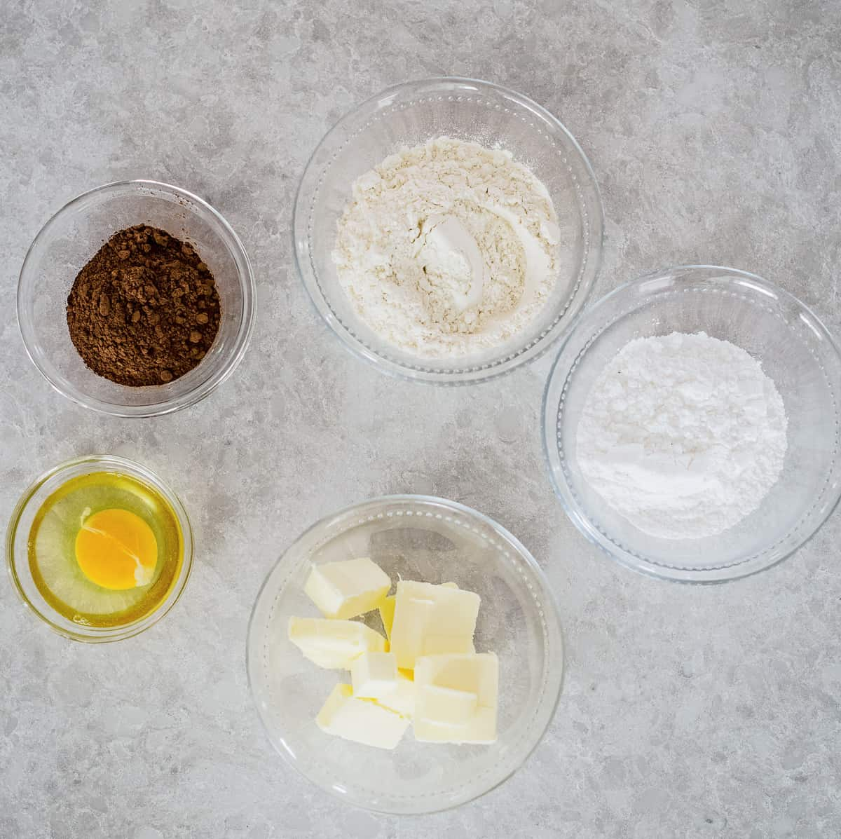 Ingredients for Chocolate Pie Crust