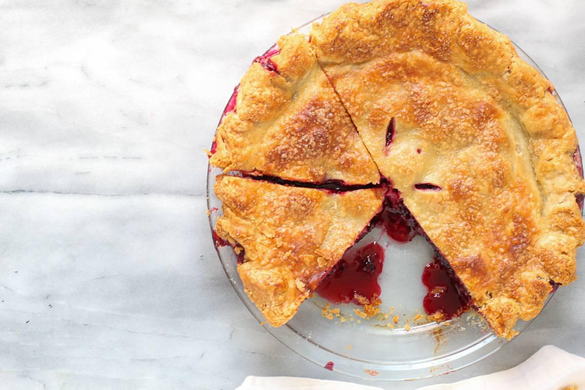 Blackberry Pie Recipe baked