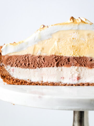 A profile of baked Alaska.