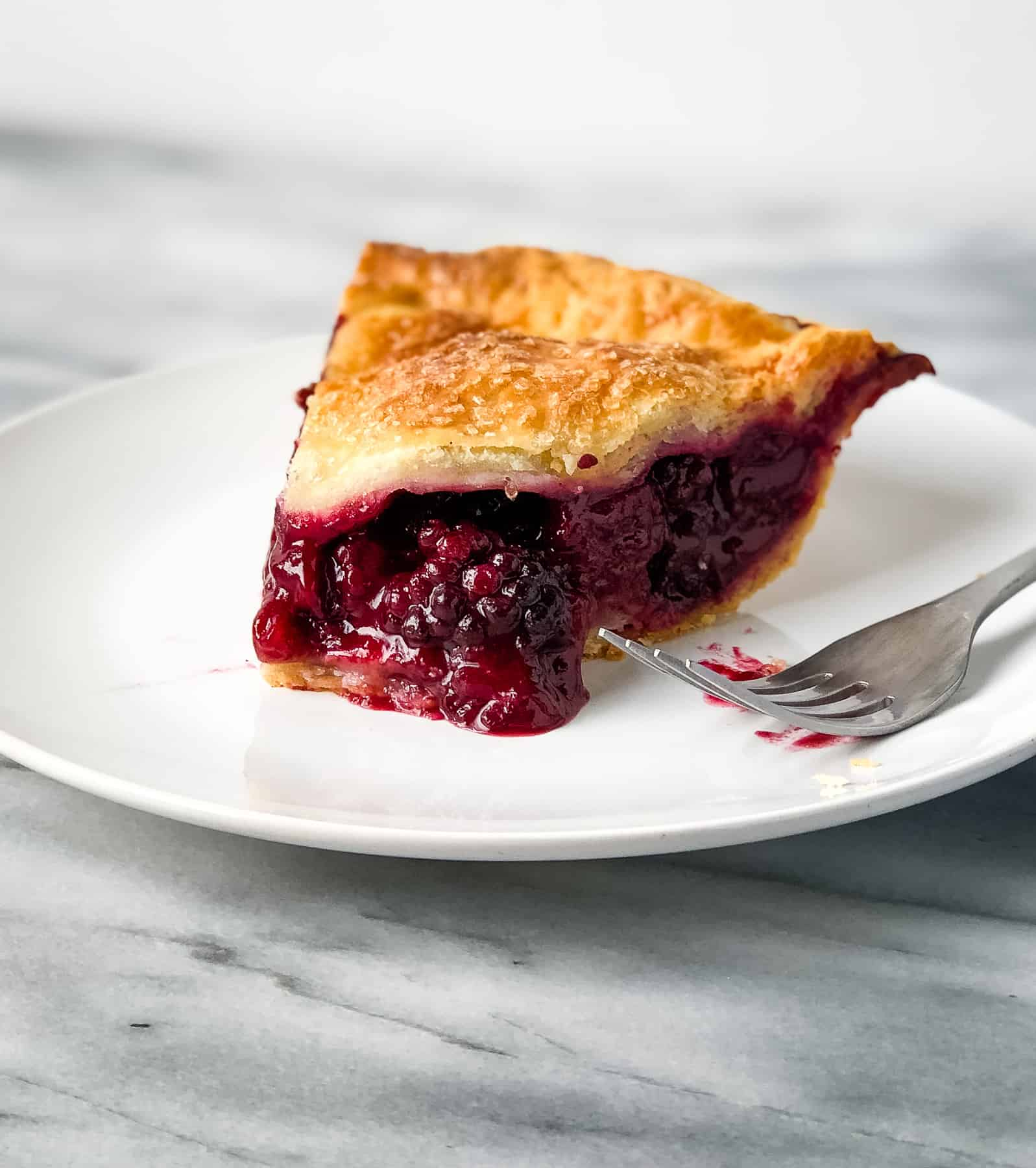 Blackberry Pie Recipe baked