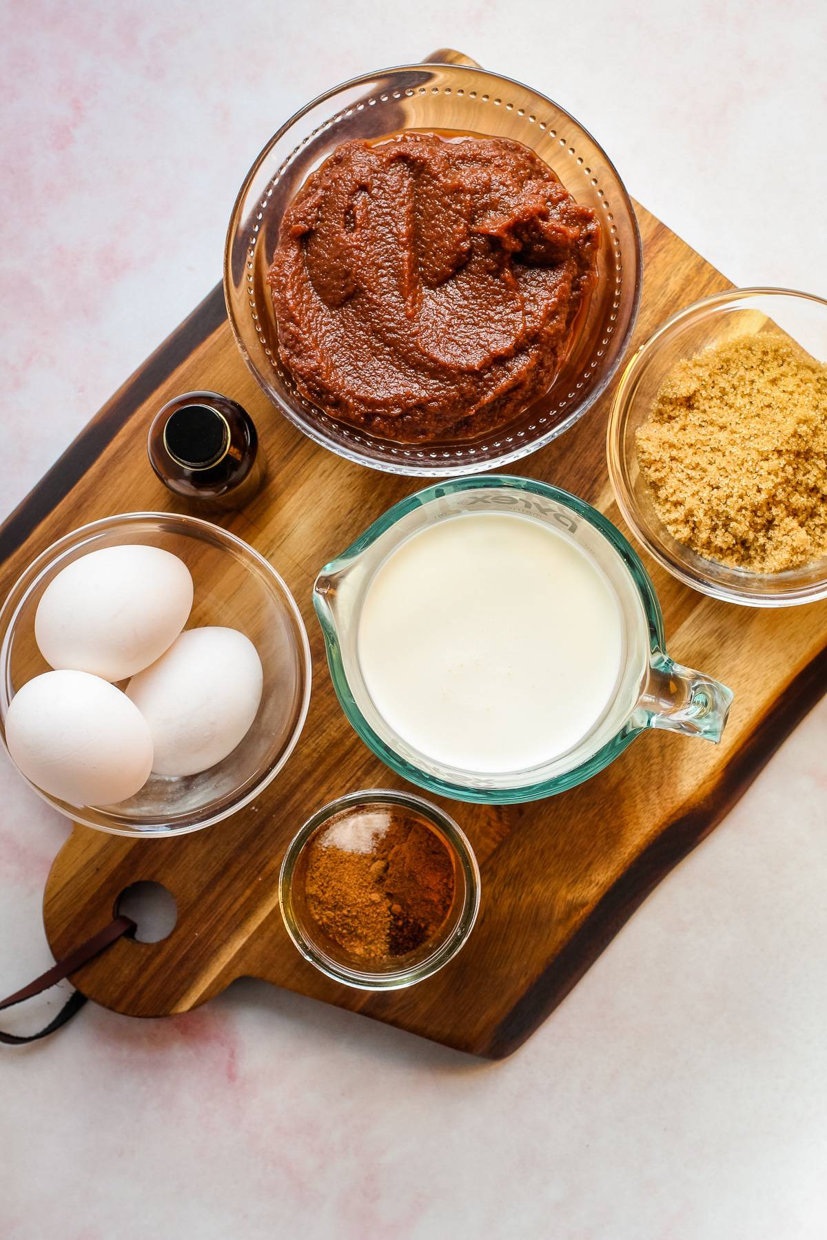 Ingredients for apple butter pie