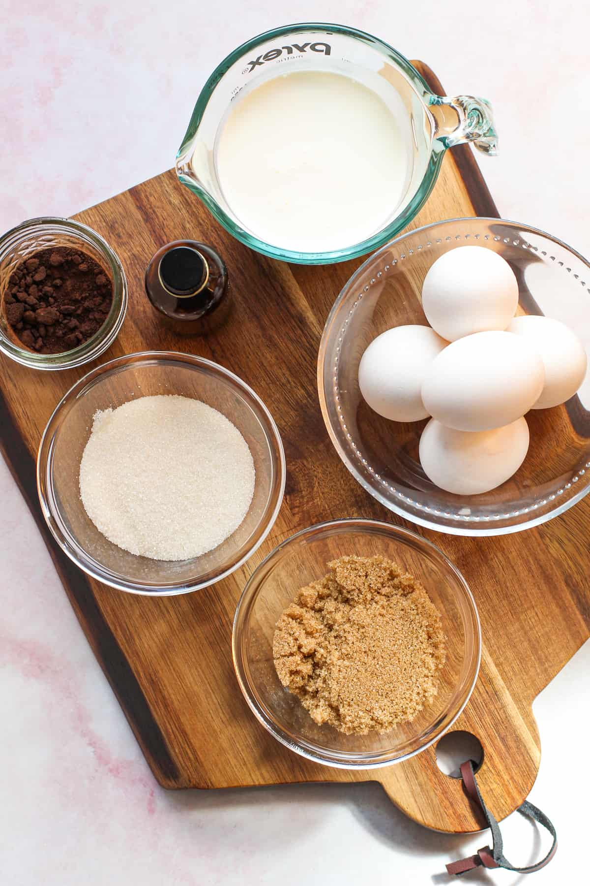 ingredients for coffee pie