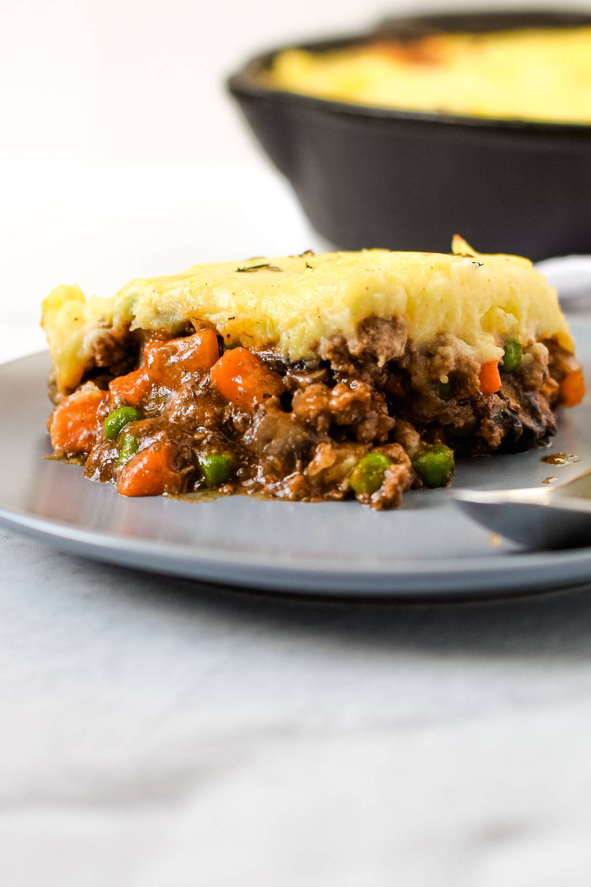 A serving of cottage pie.