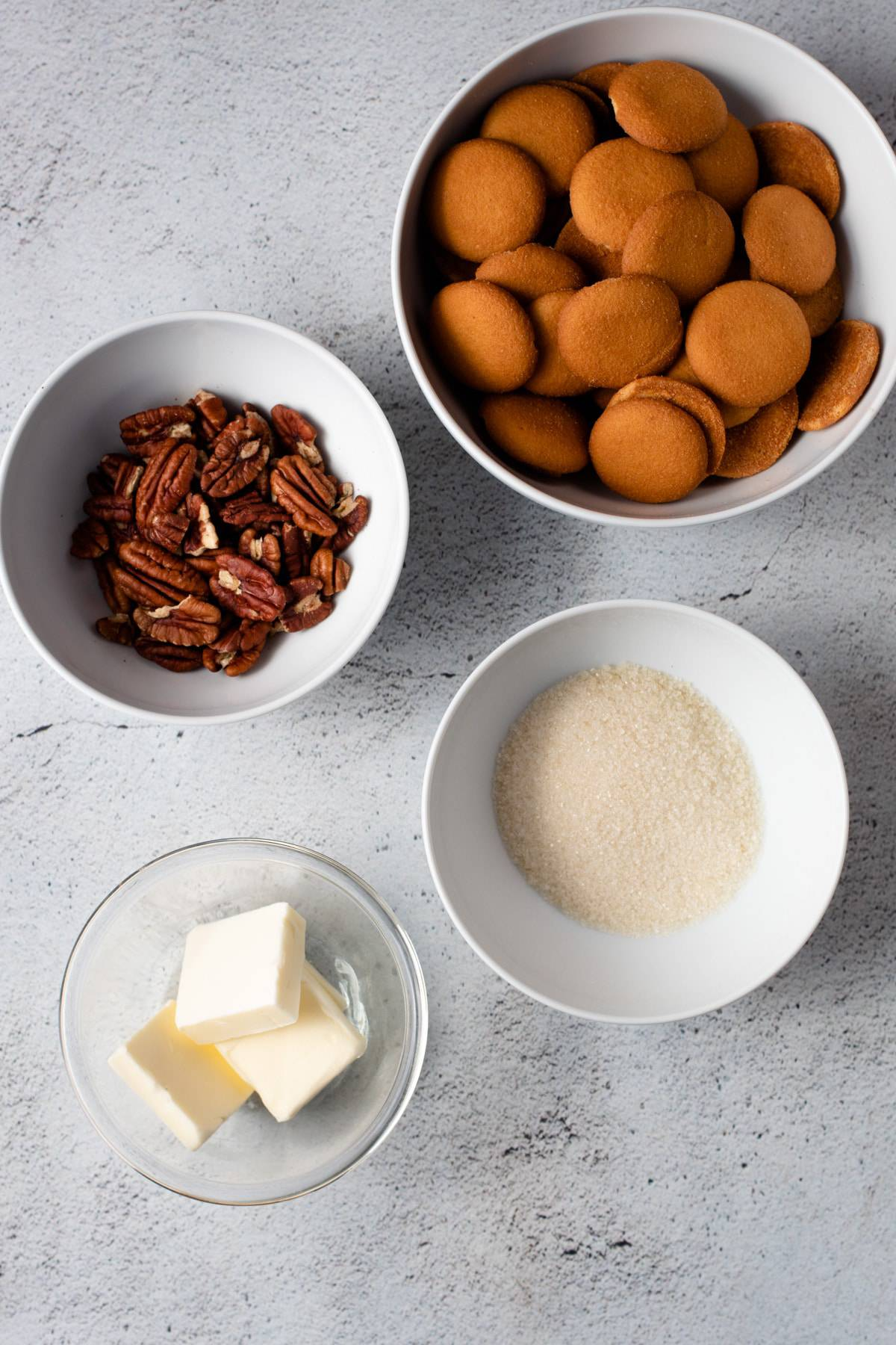 Ingredients for Nilla Wafer Crust