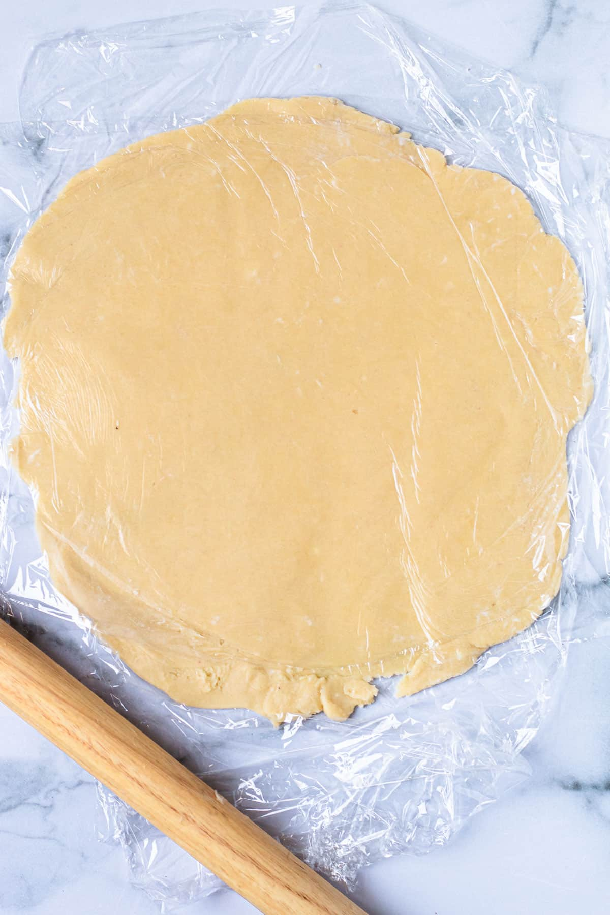 Pate Sablee dough rolled out.