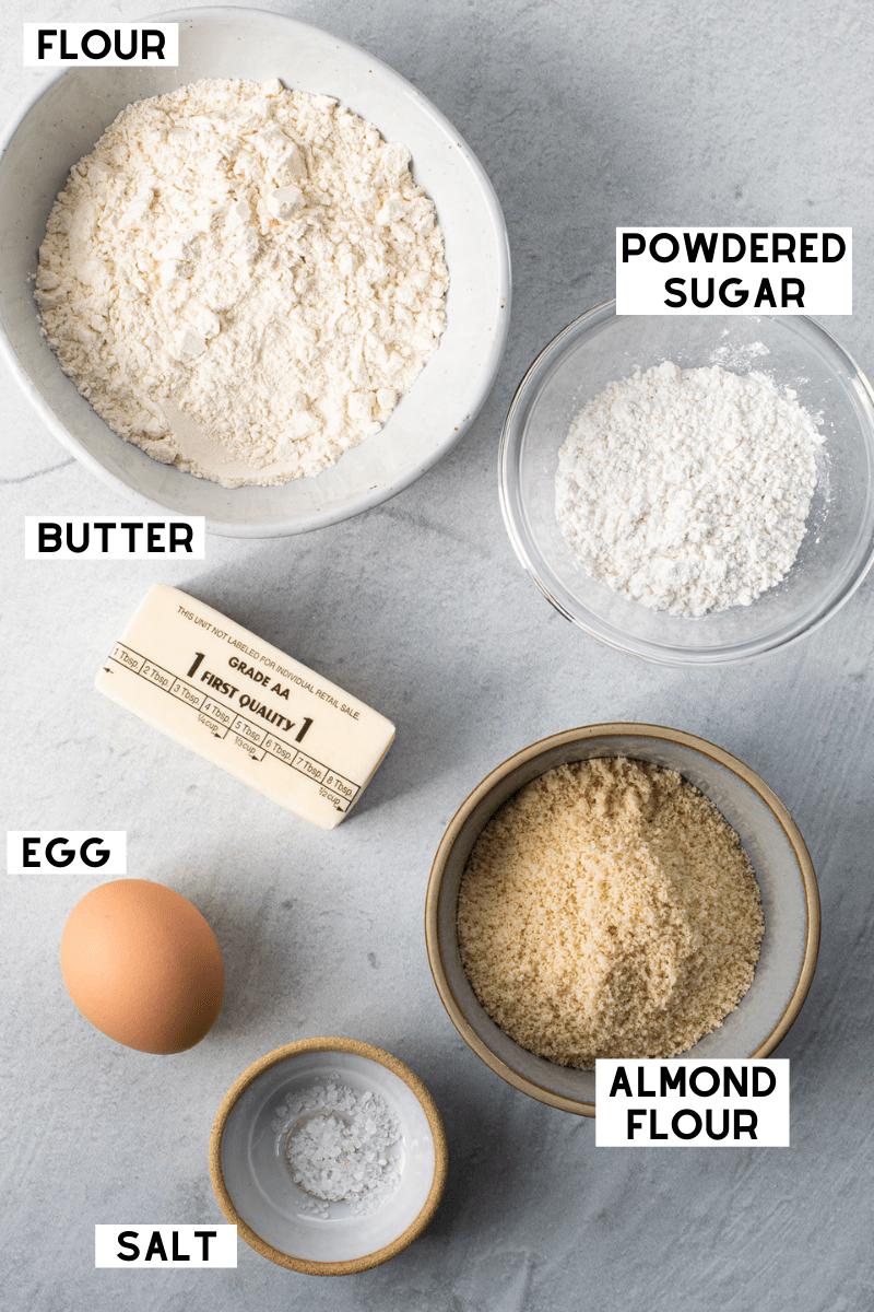 Pate Sablee ingredients
