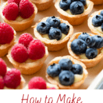 A Pinterest image on how to make pastry cream.