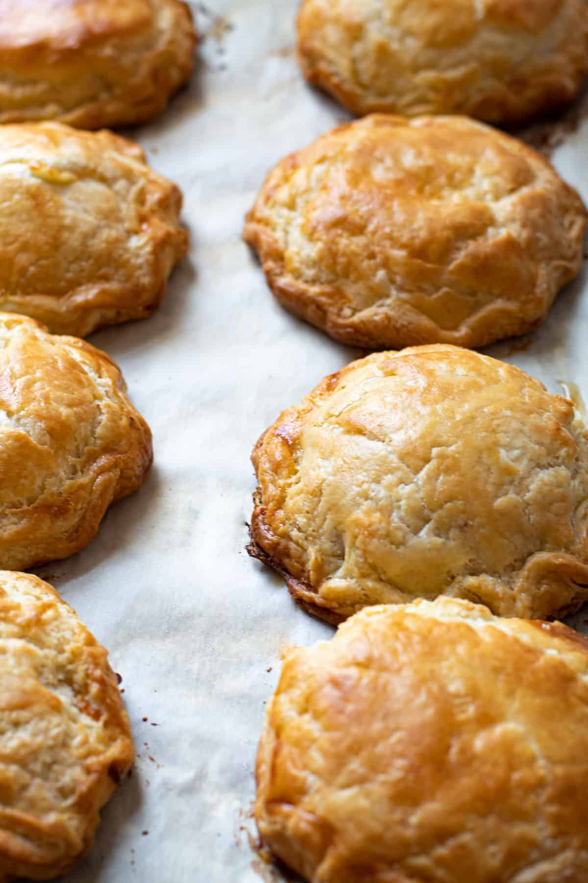 Fully baked hand pies.