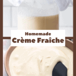 Crème Fraîche in the making and as a finished product