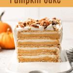 No Bake Pumpkin Cake