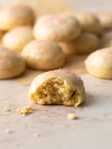 A bite of anise cookie.