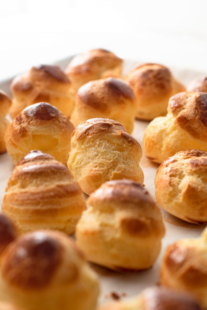 Choux Pastry buns baked.