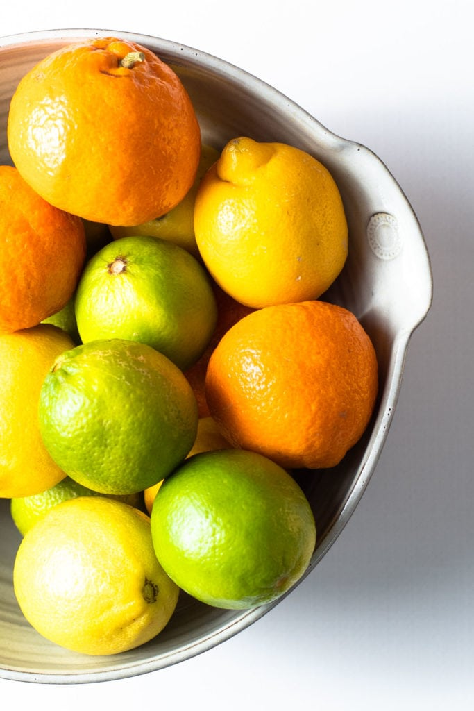 A bowl of citrus.