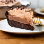 Mississippi Mud Pie slice with five layers.