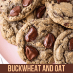 Buckwheat and Oat Chocolate Chip Cookies