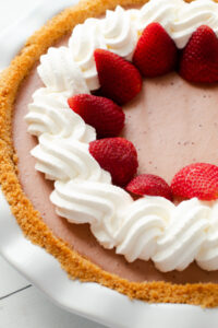 A strawberry Cream Pie