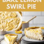 No Bake Lemon Swirl Pie