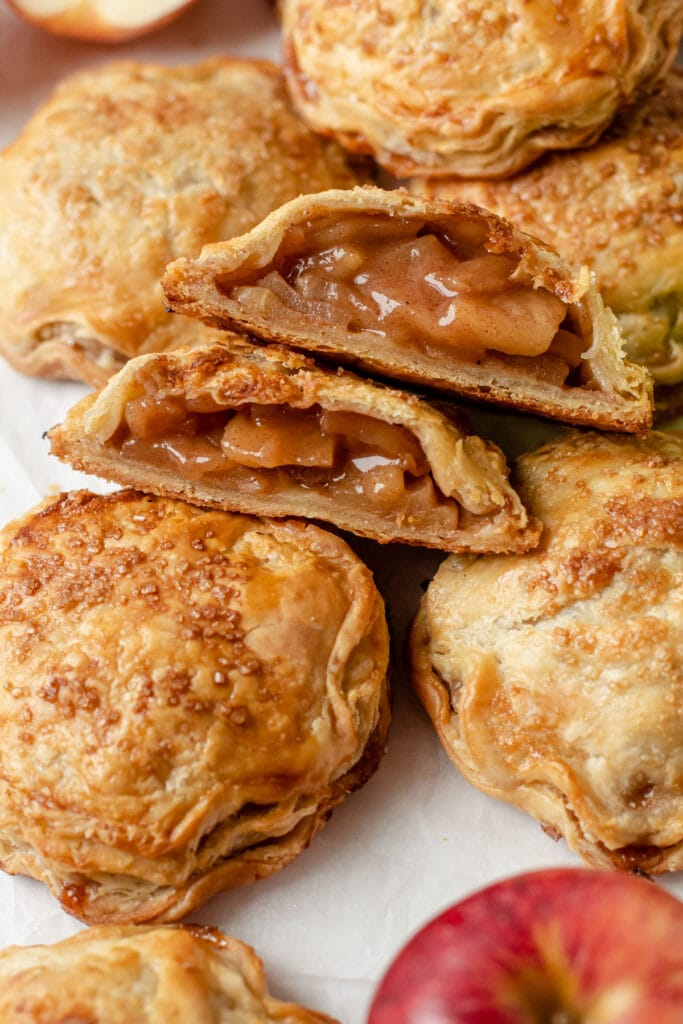 Juicy apple hand pies.