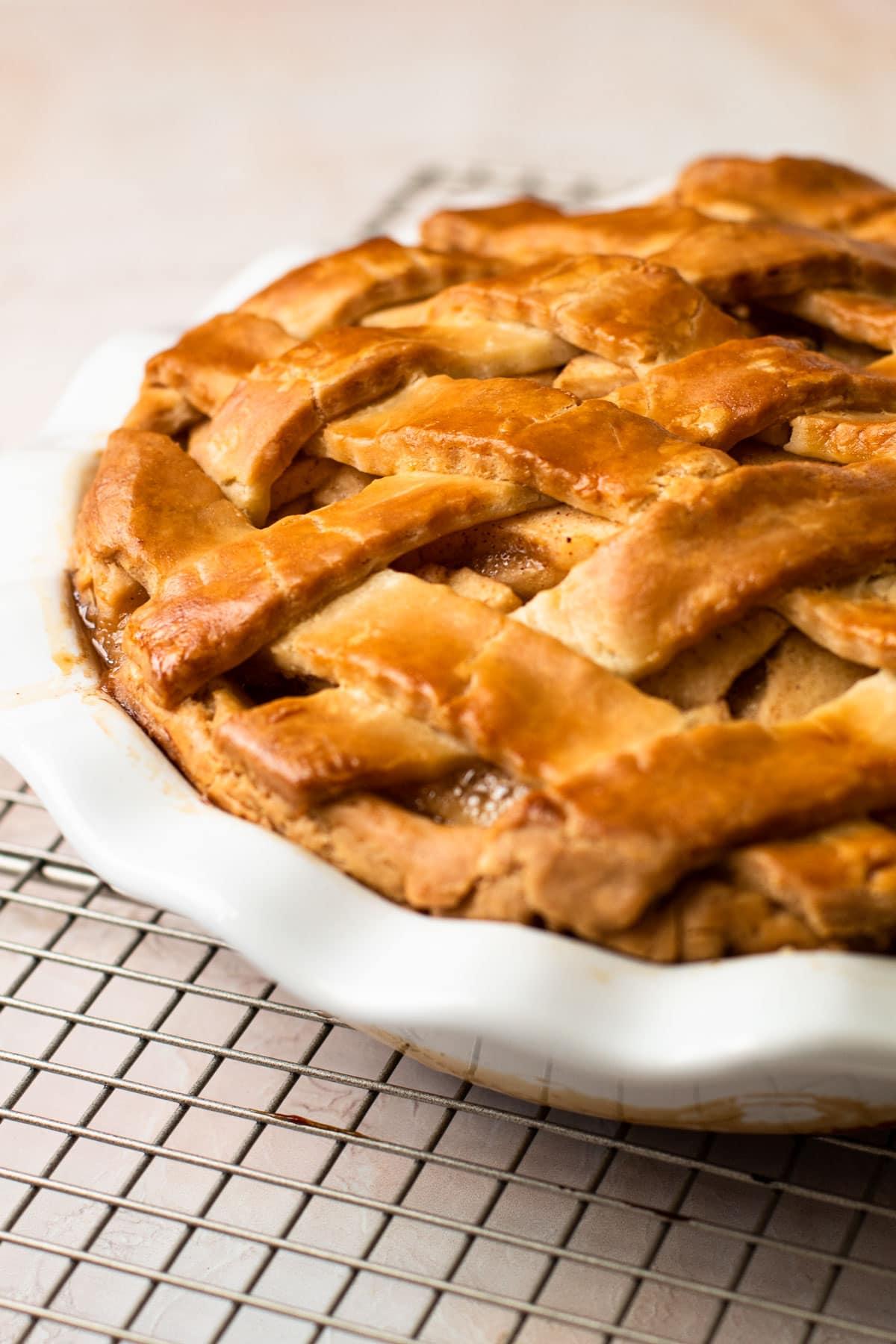A beautiful gluten-free apple pie.